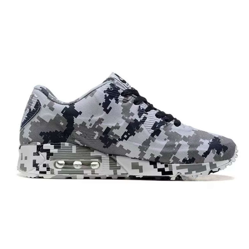 Nike Air Max 90 VT Military (Camouflage черные с белым)