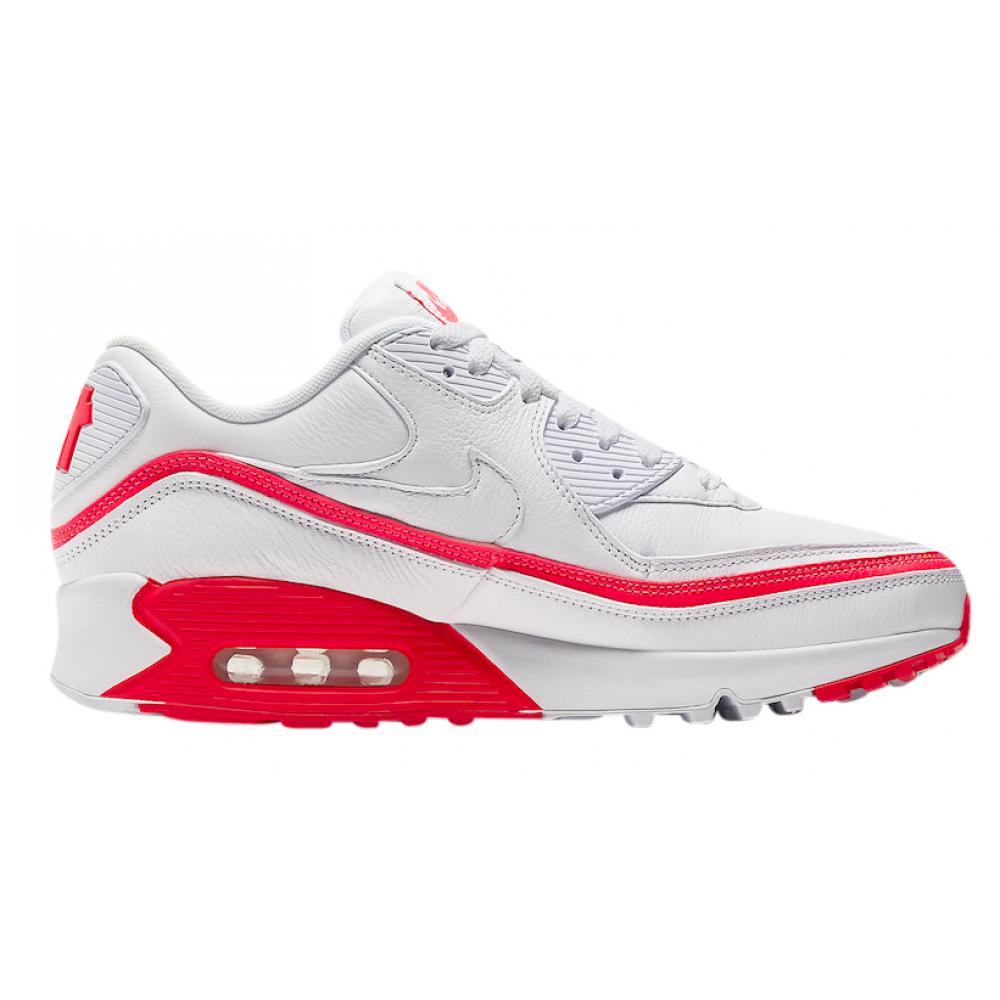 Nike Air Max 90 White Red (Белые с красным)