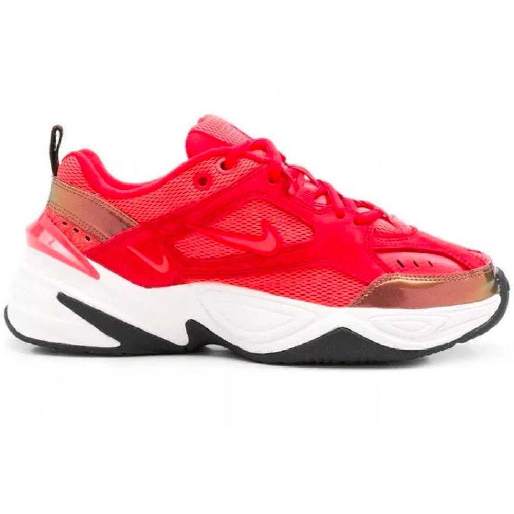 Nike M2K Tekno White Red (Красные с белым)