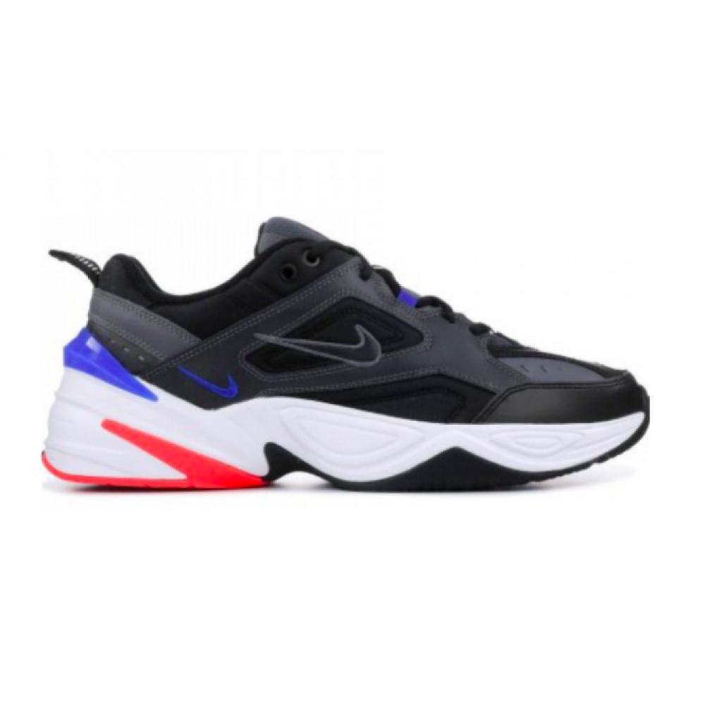 Nike M2K Tekno black (черные, синие с красным)