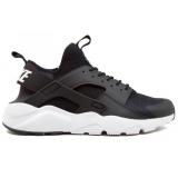 Nike Air Huarache Run Ultra black/white (черные с белым)