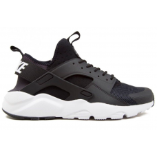 Nike Air Huarache Run Ultra black/white (черные с белым)