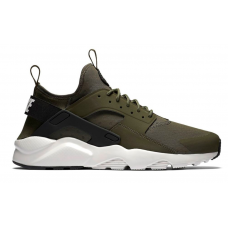 Nike Air Huarache Run Ultra khaki/white (хаки с белым)
