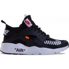 Nike Air Huarache Run Ultra Off-White black/white (черные с белым)