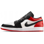 Nike Air Jordan 1 Retro low red/black (красные с черным)