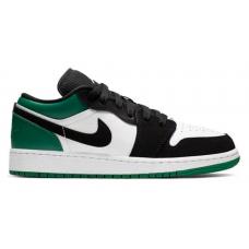 Nike Air Jordan 1 Retro low green/white (зеленые с белым)