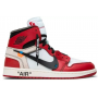 Nike Air Jordan 1 Mid Off-White red/white (красные с белым)