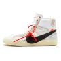 Nike Air Jordan 1 X Mid Off-White Blazer white (белые)