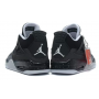 Nike Air Jordan Retro 4 black/grey (черные с серым)