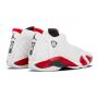 Nike Air Jordan Retro 14 White/Red (белые с красным)