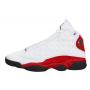 Nike Air Jordan Retro 13 White/Red (белые с красным)