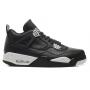 Nike Air Jordan Retro 4 white/black (белый с черным)