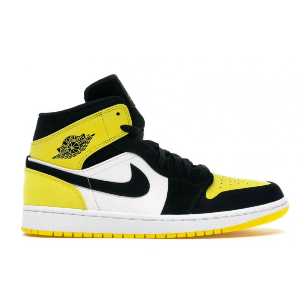 Nike Air Jordan 1 Retro High white/yellow (белый с желтым)