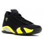 Nike Air Jordan 14 Thunder Black Yellow (Желтые)