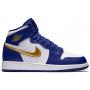 Nike Air Jordan Retro 1 Blue (синие с золотым)