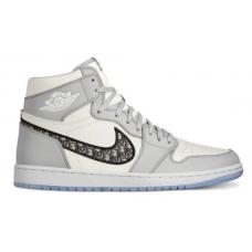 Nike Air Jordan Retro 1 High Dior (Голубые с белым)