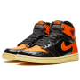 Nike Air Jordan Retro 1 High Og Black Orange (Черные с оранжевым)