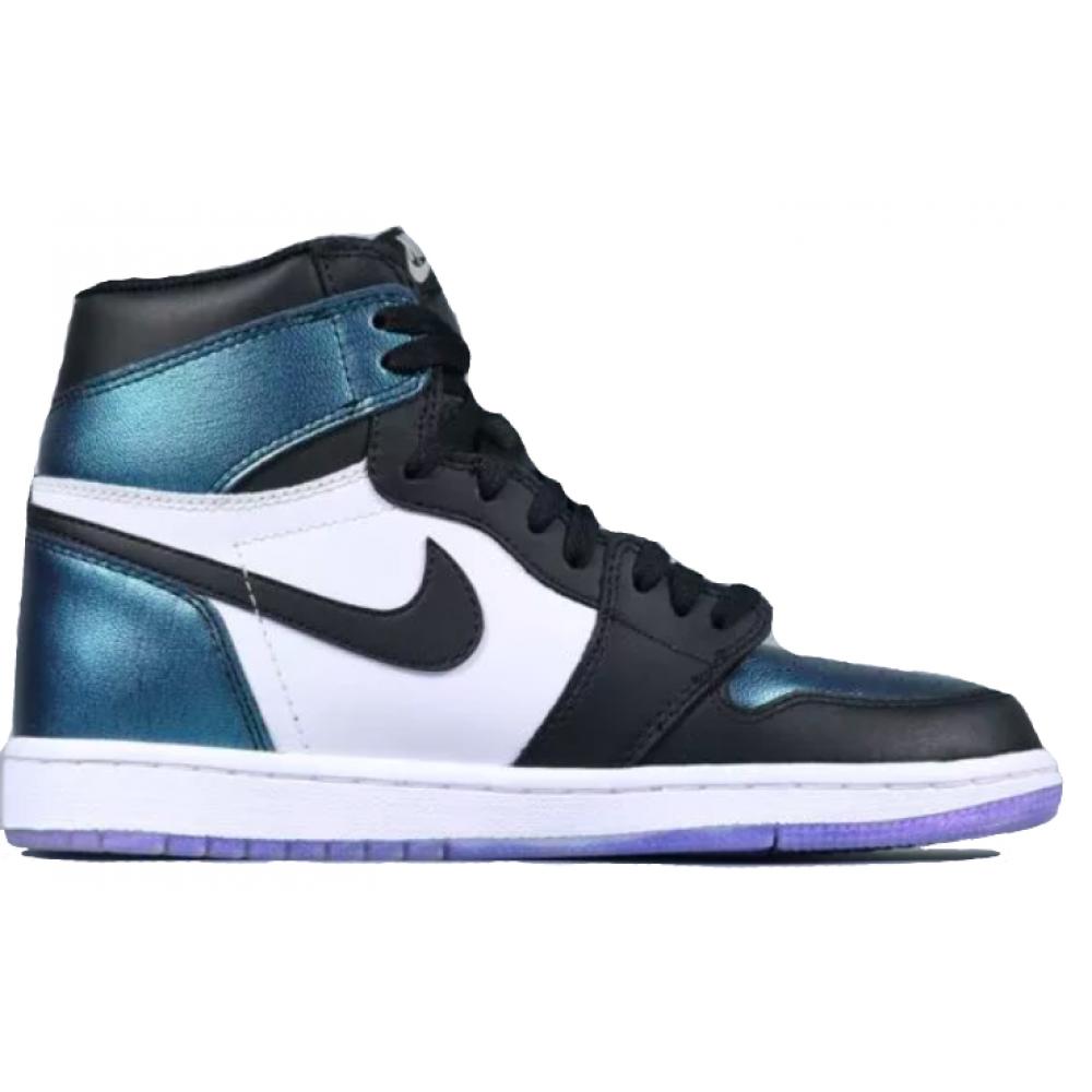 Nike Air Jordan Retro 1 High Og Chameleon (Черные с зеленым)