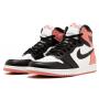 Nike Air Jordan Retro 1 High Pink (Персиковые с черным)