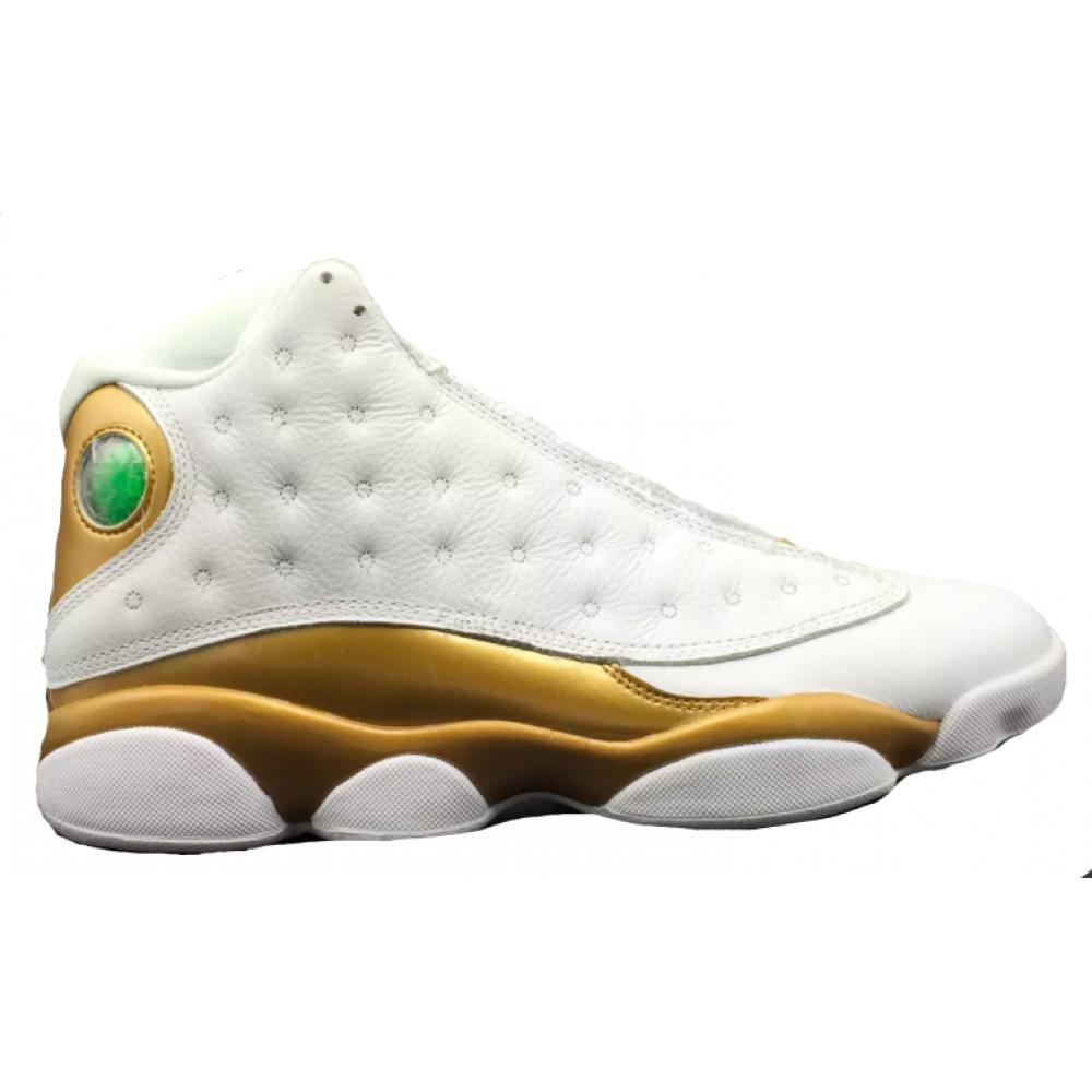 Nike Air Jordan Retro 13 Gold (Белые с золотым)