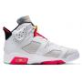 Nike Air Jordan Retro 6 White (Белые высокие)