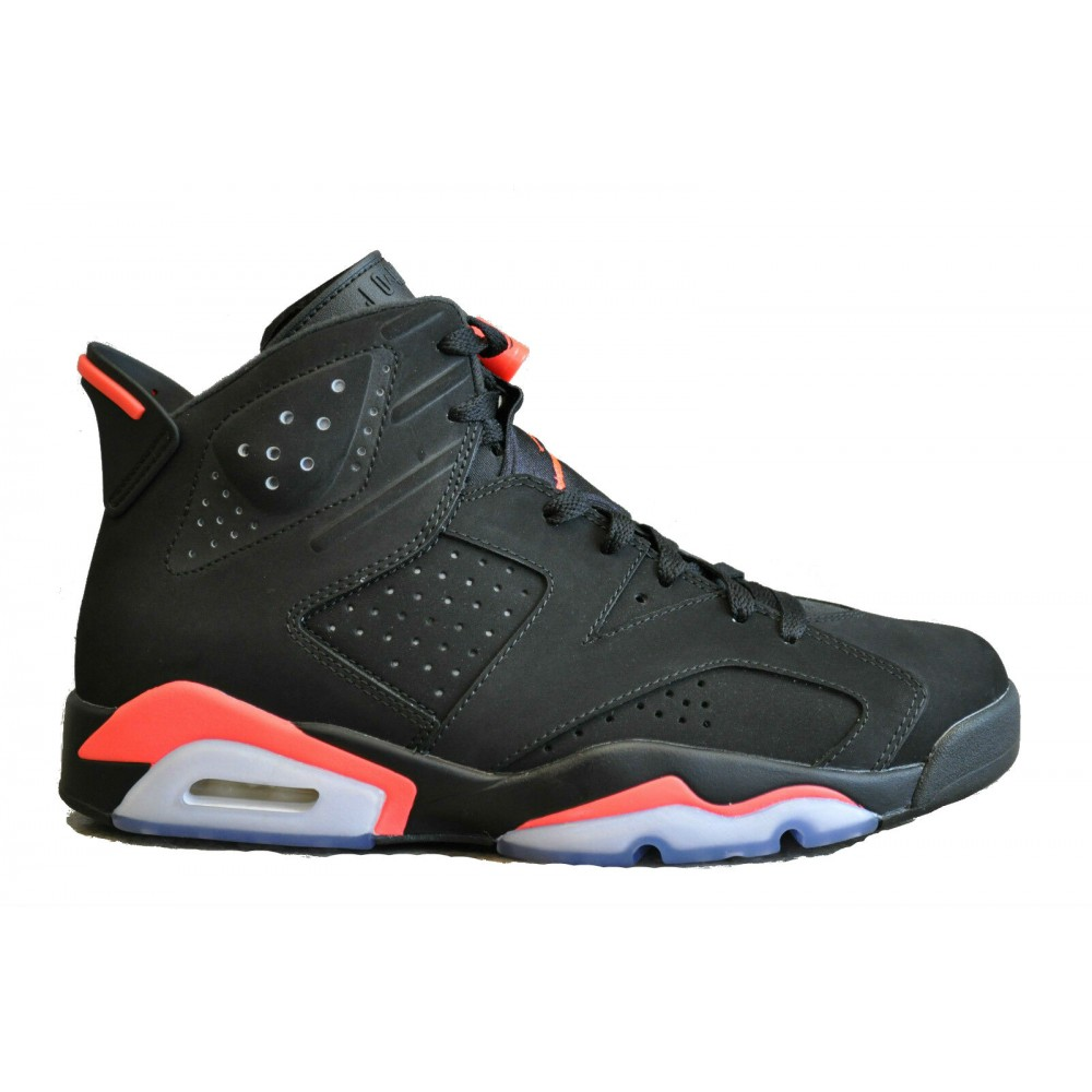Nike Air Jordan Retro 6 black/red (черные с красным)