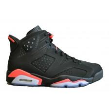 Nike Air Jordan Retro 6 black/red (черные с красным)