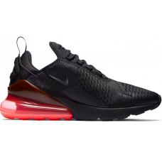 Nike Air Max 270 black/red (черные с красным)