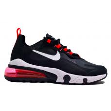 Nike Air Max 270 React black red (черные с красным)