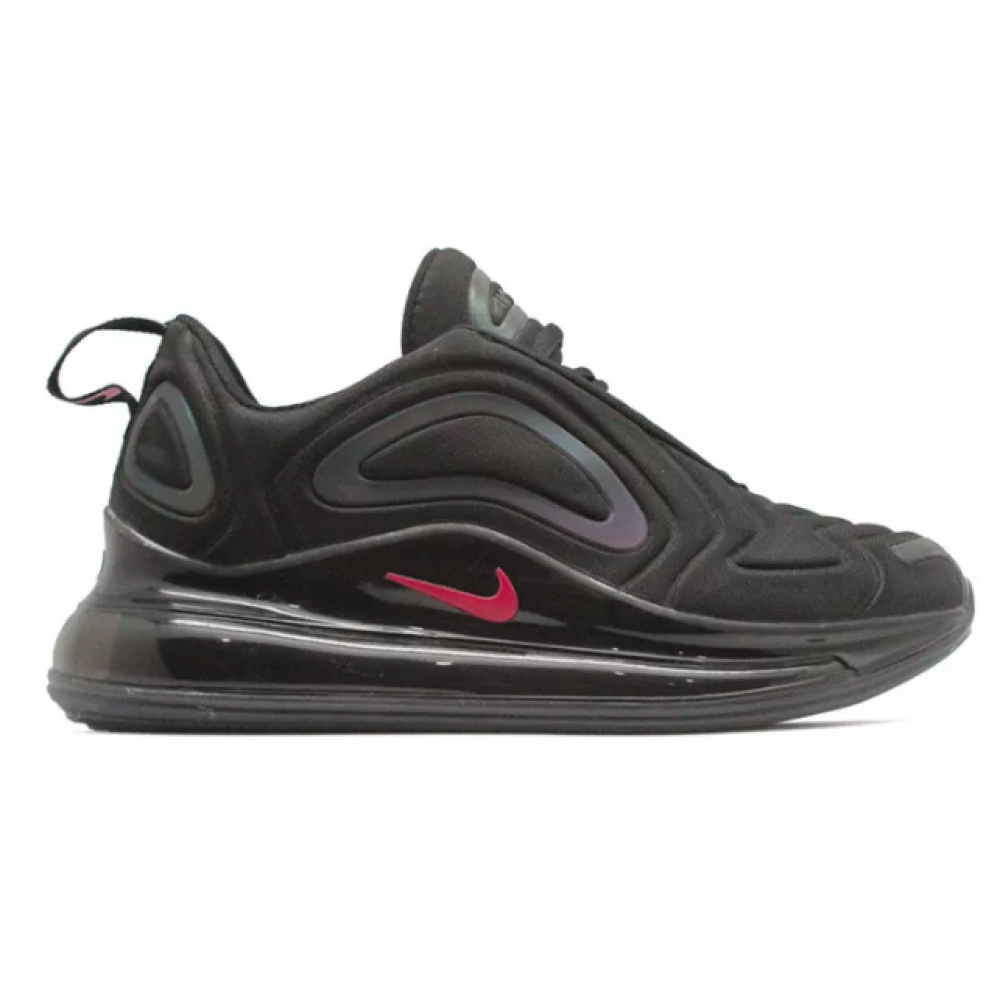 Nike Air Max 720 black (черные с хамелеоном)