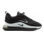 Nike Air Max 720 black/white (черные с белой подошвой)