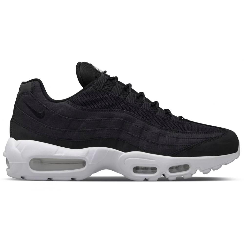Nike Air Max 95 black/white (черные с белым)