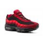 Nike Air Max 95 black red (черные с красным)