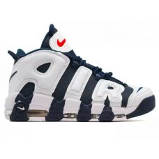 Nike Air More Uptempo 96 white/blue (белыые с синим)