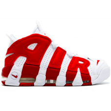 Nike Air More Uptempo 96 white/red (белыые с красным)