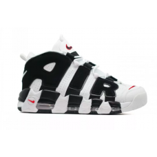 Nike Air More Uptempo 96 white/black (белые с черным)