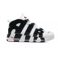 Nike Air More Uptempo 96 white/black (белые с черным)