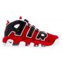 Nike Air More Uptempo 96 red/black (красные с черным кожа)