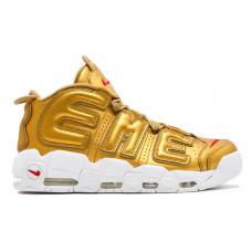 Nike Air More Uptempo 96 Supreme gold (золотые)