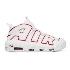 Nike Air More Uptempo 96 white/red (белые с красной окантовкой)
