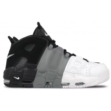 Nike Air More Uptempo 96 white black gray (белые, черные с серым )
