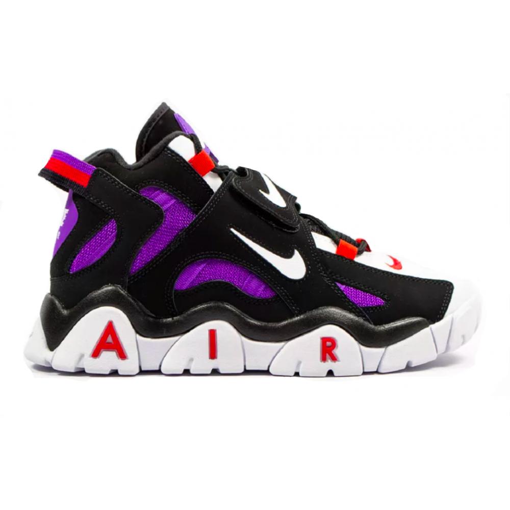 Nike Air More Uptempo 96 Barrage Mid Qs black white (черные)