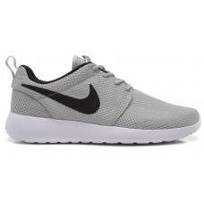Nike Roshe Run gray white (серые с белым)