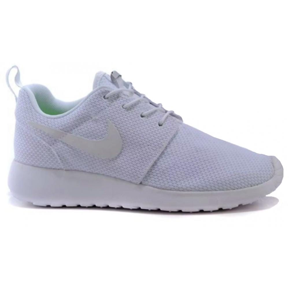 Nike Roshe Run white (белые)