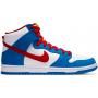 Nike SB Dunk High Doraemon (Белые с синим)