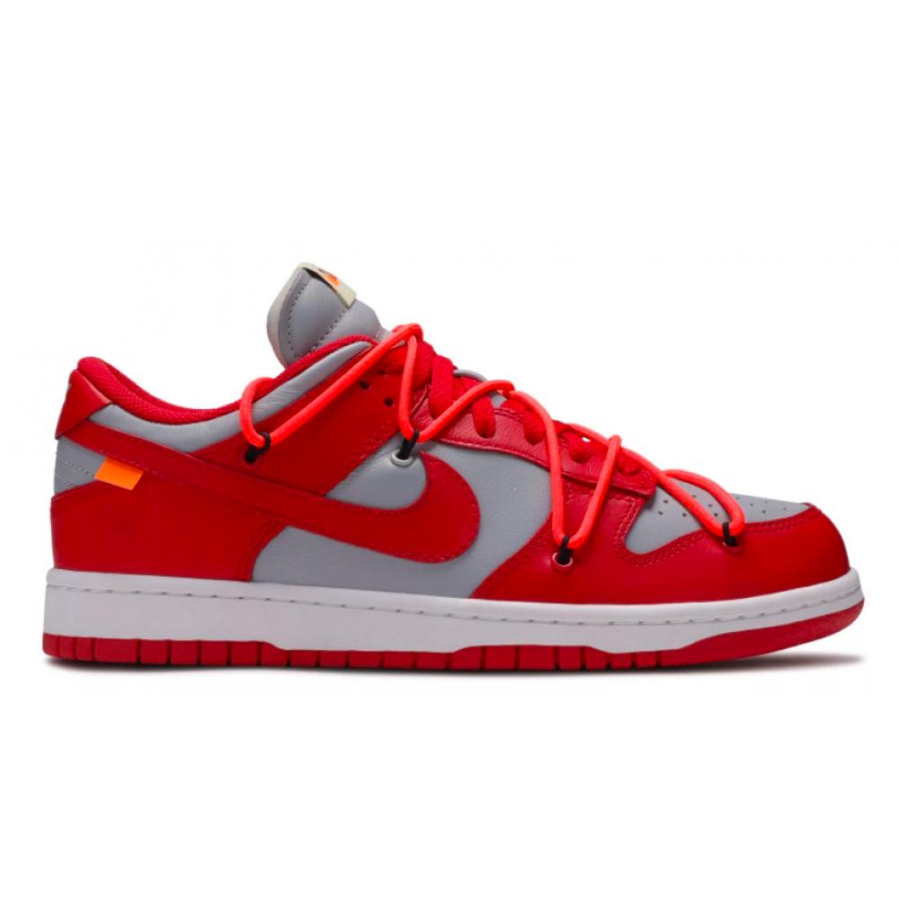 Nike SB Dunk Off White Low ( Красные с серым)