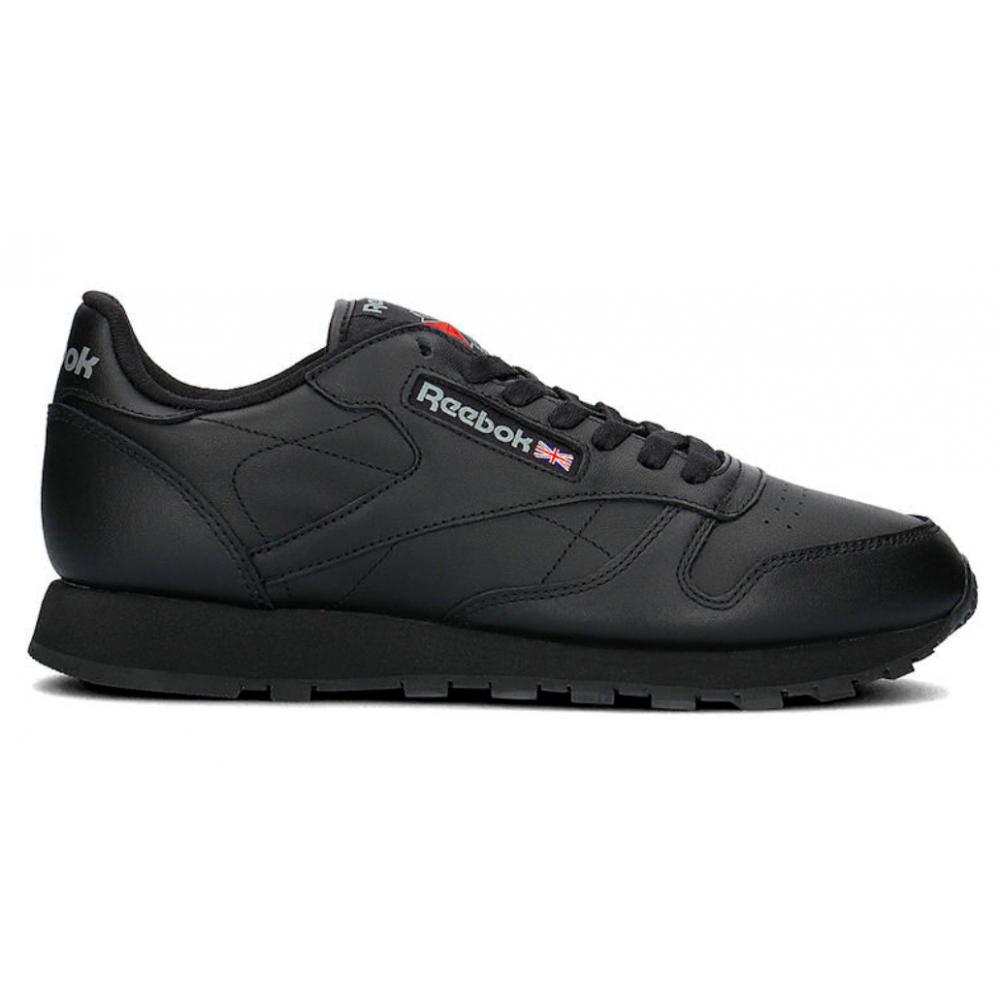 Reebok Classic Leather Black (Черные кожа)