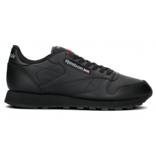 Reebok Classic Leather Black (Черные кожа)