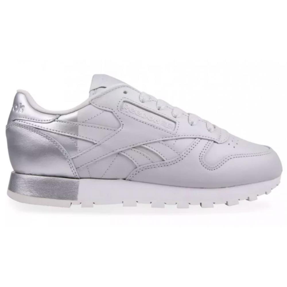 Reebok Classic Leather Gray White (Серыес белым)
