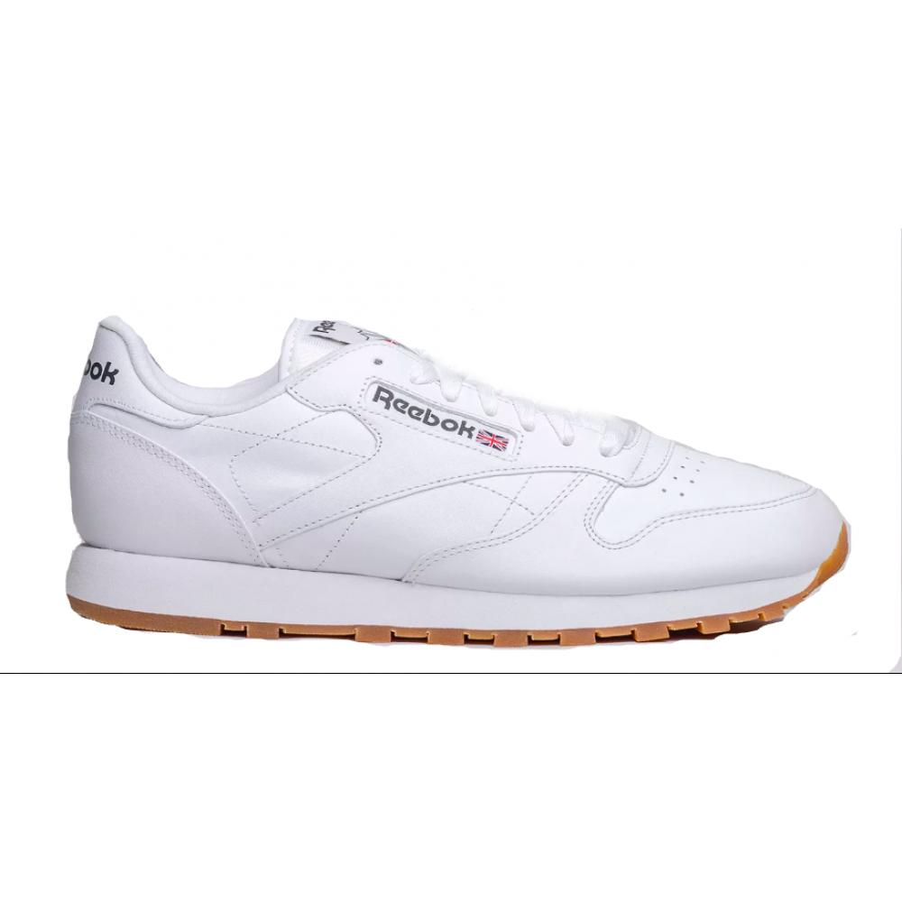 Reebok Classic Leather White (Белые с коричневым)